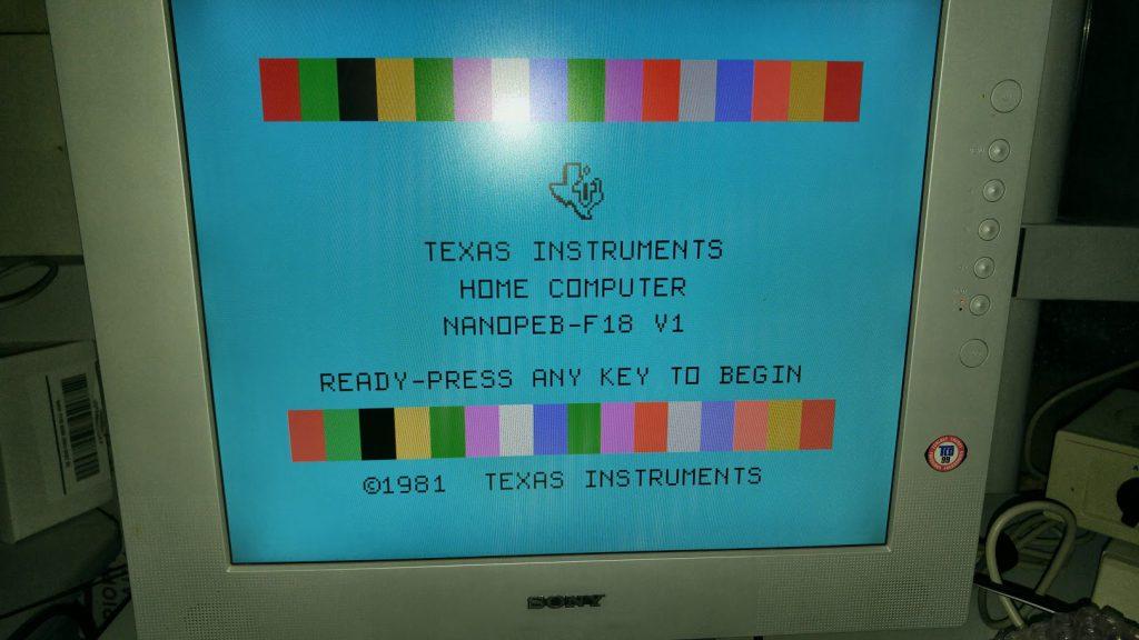 TI title screen