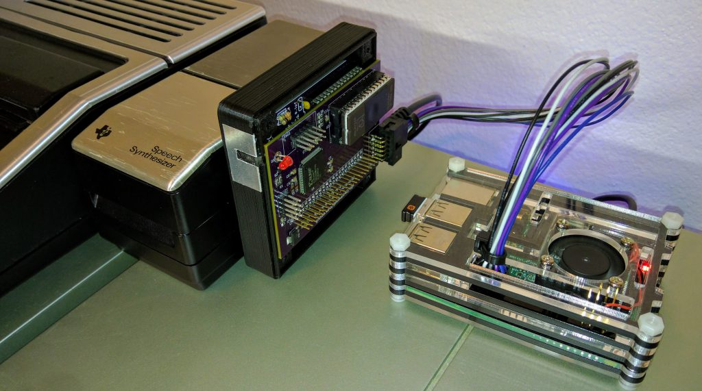 Sidecar TIPI mounted to a 32k ram card and a raspberry PI 3B connected